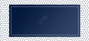 蓝色线条商务大气名片背景