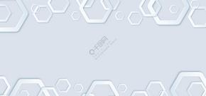 淡蓝色几何商务名片背景