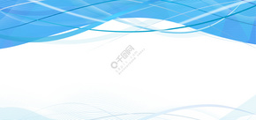 蓝色几何线条商务名片背景