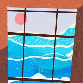 蓝色的海洋免抠图