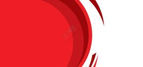 红色几何商务名片背景