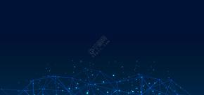 蓝色商务科技名片背景