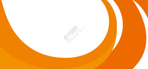 橙色几何扁平化商务名片背景
