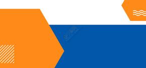 蓝色几何扁平化商务名片背景