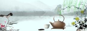 春茶上新茶道背景