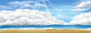 蓝色的天空白云免抠图