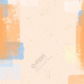 橙色透明色块肌理不规则图形背景