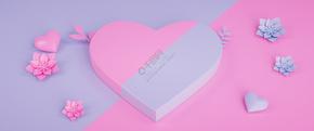 C4D创意粉色立体花小新活泼海报背景