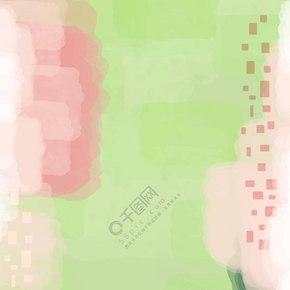 绿色清新渐变水彩透明色块简约背景