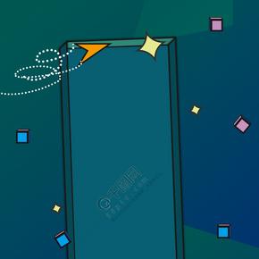 孟菲斯风格个性几何通用海报背景