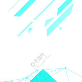 简约大气几何商务招聘会不规则图形背景