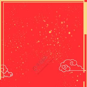 新年红色中国风海报背景