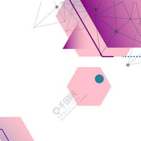 创意扁平几何商务背景合成