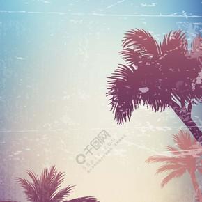 著名沙滩旅游寓意海报