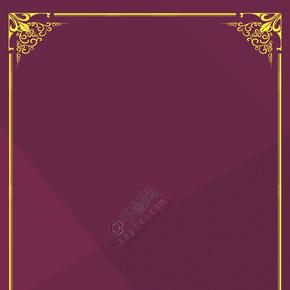 欧式复古风边框花纹背景图