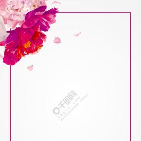 38粉色女王节花朵展板