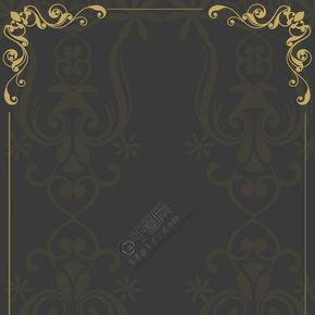 欧式花纹复古边框背景