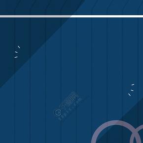简约蓝色圆形展板背景