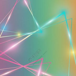 简单几何三角渐变背景
