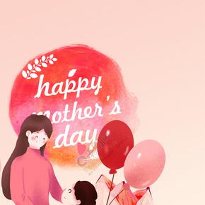 简单感恩母亲彩色气球背景