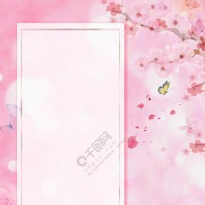 春季的桃花背景素材