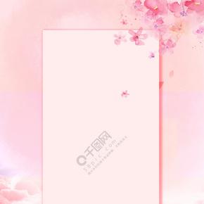 桃花花朵背景清新