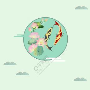 绿色中国风立夏海报设计