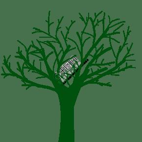 大树图标爱心大树