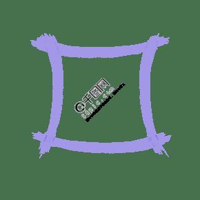 紫色邊兒圖案字框