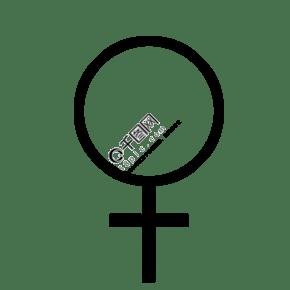 【免扣图】女性标志