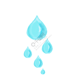卡通矢量眼泪素材图