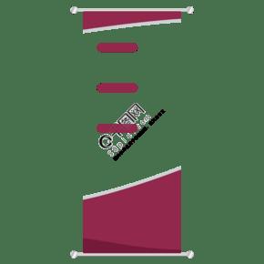 红色简介易拉宝设计素材