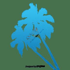 偉大的卡通椰子樹枝