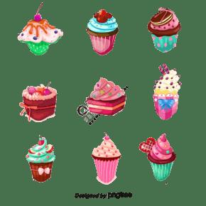 蛋糕設計矢量圖像