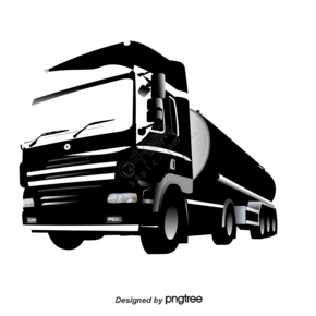 卡通卡車拖車