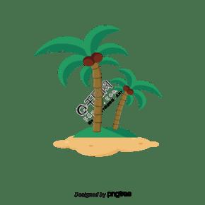 卡通椰子樹