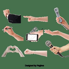 各种手势设计psd分层素材2免费下载