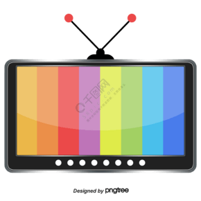 矢量黑色和白色电视天线