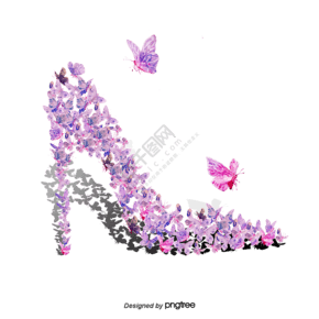 蝴蝶高跟鞋