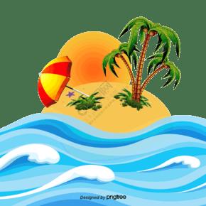 海邊的椰子樹