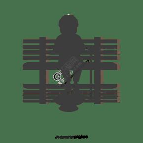 創意海報設計 - 一名男子坐在椅子上 - 阿甘正傳