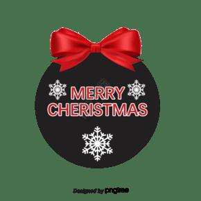 矢量圣诞弓标记