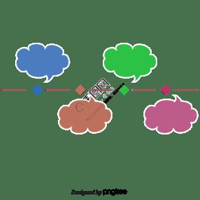 時間線向上對話框ppt裝飾圖案