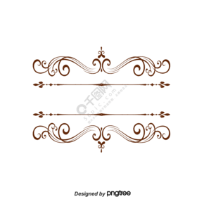 棕色文本装饰框架