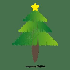 黑白线圣诞树图书馆