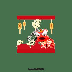 中國新的一年舞獅矢量