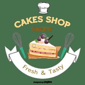 蛋糕法式蛋糕貼紙矢量