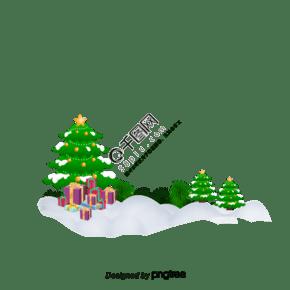 圣诞树背景材料