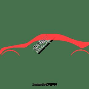 向量红色跑车汽车流线图片