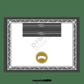 矢量授权边框装饰模板
